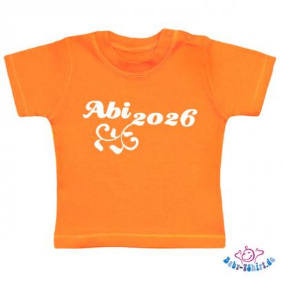 Baby t shirt mit dem aufdruck abi jahreszahl