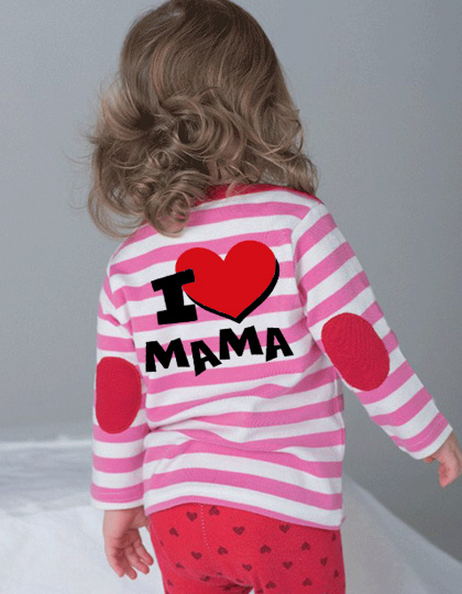 d3acdb9d68d013 Neue Baby-Shirts im Streifenlook ... mit lustigen Sprüchen und Motiven  bedruckt.