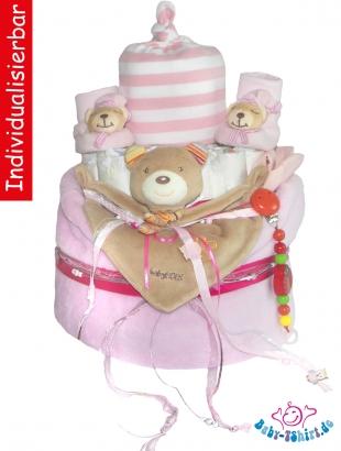 Windeltorte Jungen Mädchen Individuell Bedruckt Hübsch Verpackt