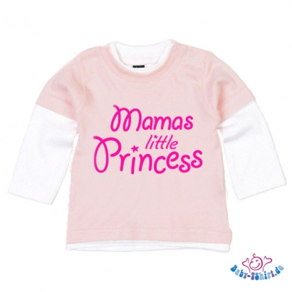"Baby T-Shirt Bicolour mit dem Aufdruck ""Mamas little princess"""