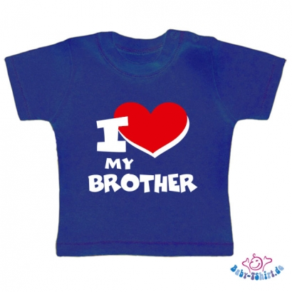 "Baby T-Shirt  mit dem Aufdruck ""I Love my Brother"""