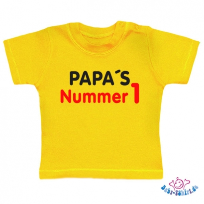 "Baby T-shirt Plus ""Papas Nr. 1"""