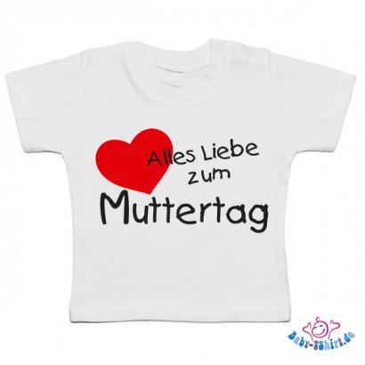 Alles Liebe Zum Muttertag Baby T-Shirt