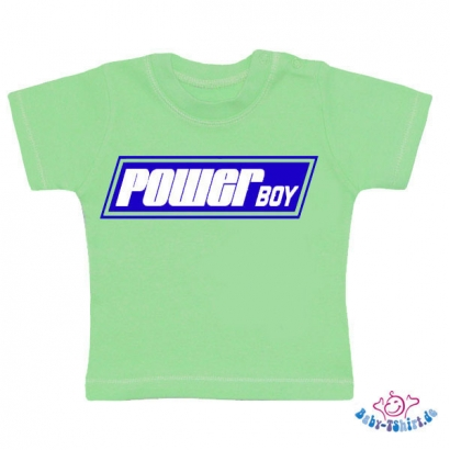 "Baby T-shirt Plus mit ""Powerboy"""