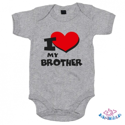"Babybody bedruckt mit "" I Love my Brother"