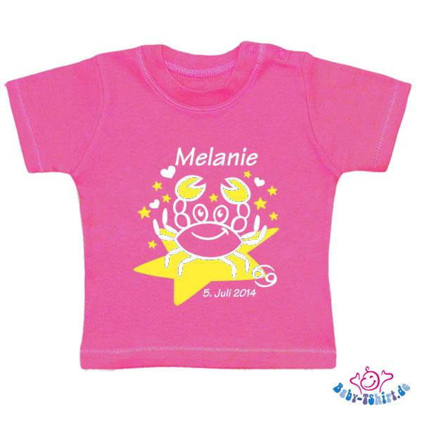 Baby T-Shirt mit dem Aufdruck Sternzeichen \