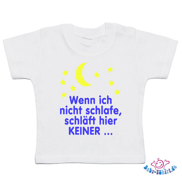 baby t shirt plus wenn ich nicht schlafe schl ft hier. Black Bedroom Furniture Sets. Home Design Ideas