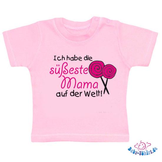 baby shirt mit aufdruck ich habe die suesseste mama. Black Bedroom Furniture Sets. Home Design Ideas