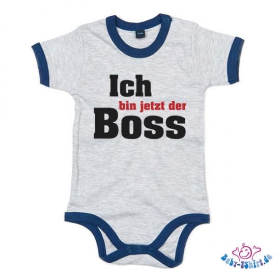 Babybody bedruckt ich bin jetzt der boss for Babybody sprüche