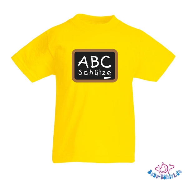 kinder t shirt mit dem aufdruck abc sch tze. Black Bedroom Furniture Sets. Home Design Ideas