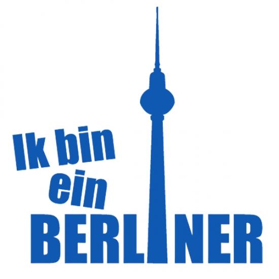 motiv: ik bin ein berliner   bedruckt auf baby dreieckstuch